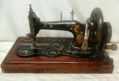 Antique 12K Fiddle Base Singer Sewing Machine Dated 1889 + Dome Case Rare Decals