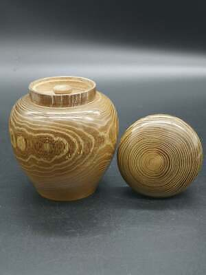 Japanese Wooden Tea Caddy, Natsume, Natural wood, Tea ceremony