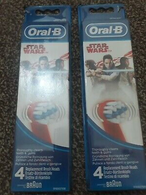 Braun Oral B Power Kids Stages Star Wars Toothbrush Heads (Pack Of 8)