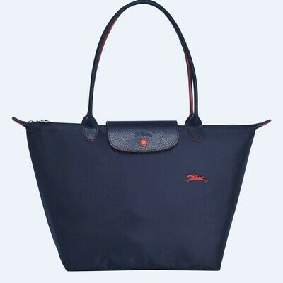 Longchamp Le Pliage Nylon Tote Bag Navy Blue Handbag Large L1899619556