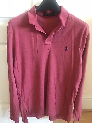 Ralph Lauren Polo Red/Pink Long Sleeved Shirt. Size Large