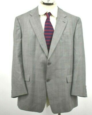 Hart Schaffner & Marx Men's 48R Gray 2-Button Blazer Jacket Suit Sport Coat
