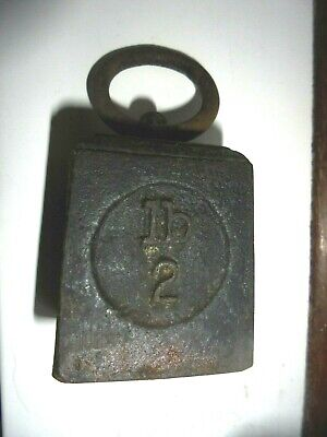 Vintage Broad Arrow Cast Iron Gpo 2 Lb Ring Weight/Scales/Door Stop/Paperweight