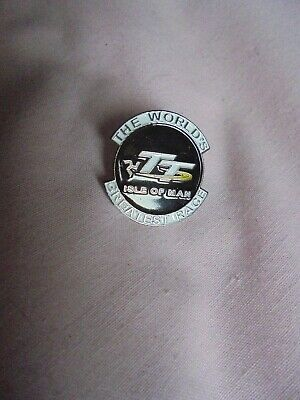 Transportation Isle of Man TT The World/'s Greatest Race Enamel Pin  Motorcycle