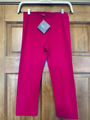 NWT Tea Collection ITALY cropped capri leggings dark pink solid sz 10