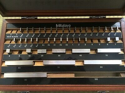 Mitutoyo Gauge Block Set Metric Grade 2 Made In Japan Incomplete Missing Some
