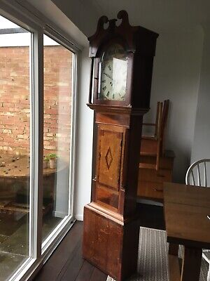 Antique Style Mahogany Veneer Pendulum Traditional Grandfather Clock