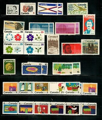Canada 1970 Year Set with tagged issues MNH