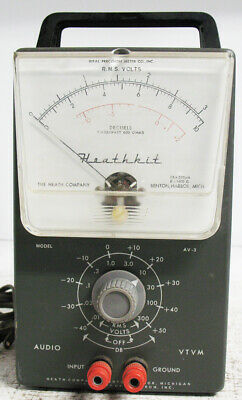 Vintage Heathkit AV-3 Audio VTVM. Working, Accurate