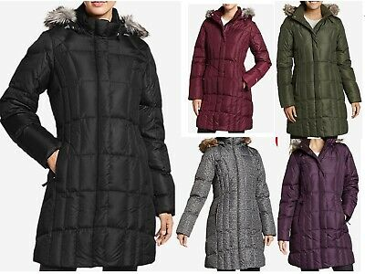 NWT Eddie Bauer Womens 18 Lodge Down Parka Coat Hooded 3 Color Available
