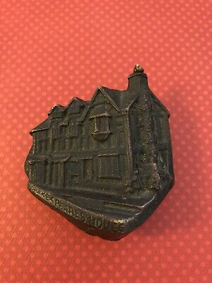 Vintage Heavy Brass Shakespeare Stratford House Door Knocker
