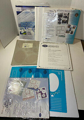Creative Memories Scrapbook Lot Stencils Paper Protective Sleeves Refill Pages