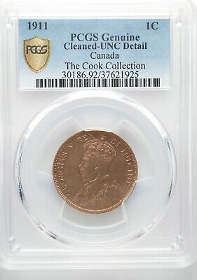 1911 Canada Large One Cent - Uncirculated (Details) - from the Cook Collection