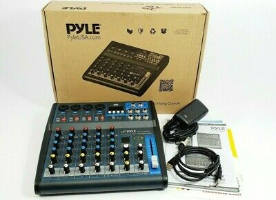 Pyle PMXU63BT Professional Audio Mixer Sound Board Console 6 Channel
