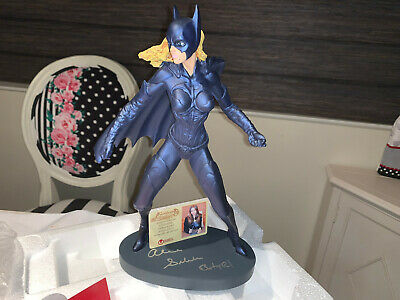 Hand Signed Autographed Alicia Silverstone Statue Batman and Robin with PROOF