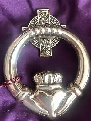 NEW!! Solid Brass Irish Celtic Claddagh G & D Door Knocker