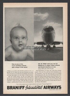 1962 Braniff International Airway Airline 707 227 El Dorado Super Jet BABY Ad