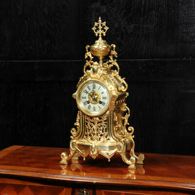 Antique French Gilt Bronze Louis XVI Boudoir Clock