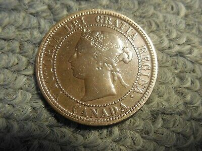 1876H Canadian Large Cent in VG condition. But you decide!!!!!!!!!!!