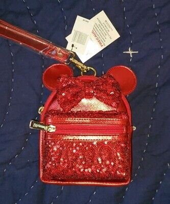 NEW Disney Parks Loungefly RED REDD PIRATE Mini Backpack WRISTLET Bag Purge