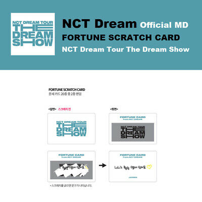 NCT DREAM Official FORTUNE SCRATCH CARD Only Tour The Dream Show Goods MD Select