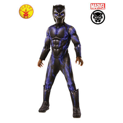 BLACK PANTHER BATTLE SUIT DLX LICENSED CHILD COSTUME 3 x SIZES BY RUBIE'S **NEW*