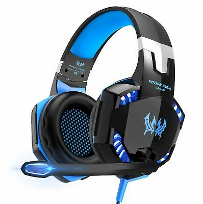 3.5mm Gaming Headset MIC LED Headphones for PC Laptop PS4 Slim Pro Xbox One 360