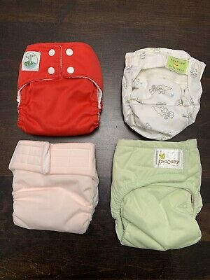 Cloth Diapers (Lot of 4) Small