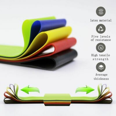 Resistance Exercise Bands Loop Set Yoga Latex Glutes Pull Up Home Gym Fitness NM