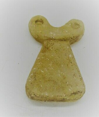 Circa 5000 Bce Ancient Syro Tel Brak Stone Carved All Seeing Eye Idol