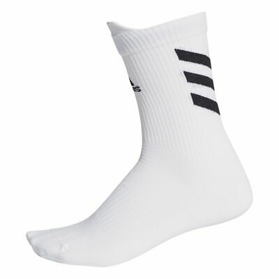 Adidas Sports Football Soccer Mens Kids Alphaskin Ultra Light Crew Socks White