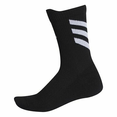 Adidas Sports Football Soccer Mens Kids Alphaskin Low Cushion Crew Socks Black