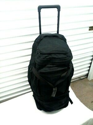 """Eagle Creek Expedition Trunk Rolling Luggage Backpack Black 30"""""""