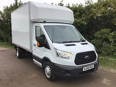 2016 (66) Ford Transit 2.2 Tdci (125 Ps) Twin Rear Wheel Luton Van With Tailgate