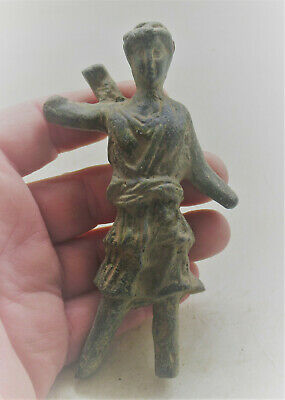 Circa 200 - 300 Ad Ancient Roman Bronze Statue Diana The Hunter