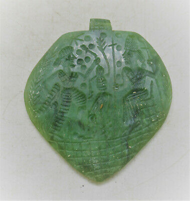 Beautiful Ancient Near Eastern Jade Stone Amulet Wearable
