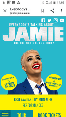 4 tickets everybody's talking about Jamie  London Apollo Theatre