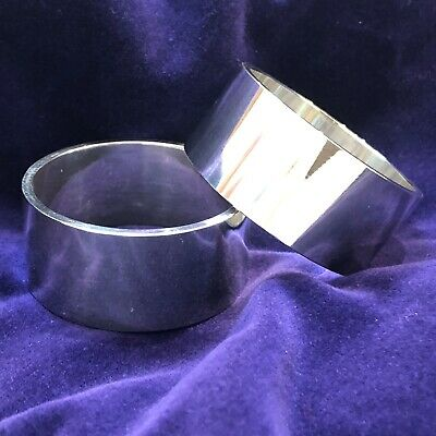 #6019355 Solid Fine Silver Pair of Napkin Rings 127g