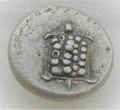 Ancient Greek Ar Silver Stater Coin Aegina Turtle