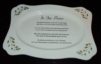 """Mud Pie """"In Our Home"""" Platter 8"""" x 11 1/2"""""""