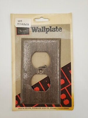 Vintage Sears Outlet Light Switch Cover Wood Wall Plate Retro New