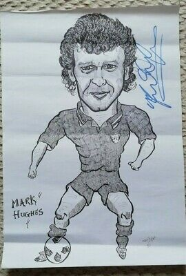 Mark Hughes autograph - Chelsea and Wales footballer
