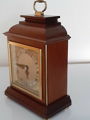 """Quality World Renowned """"Elliott Of London""""  8 Day Wooden Cased Mantle Clock."""