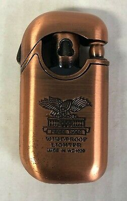 Vintage FIERRE Tiger Copper Lighter Windproof Made in WZ-1029 Germany