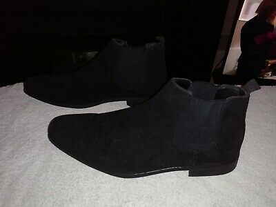 Mens Size 10 Black Boots Shoes Worn Once Good Quality And Condition