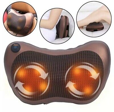 Electric Pillow Shaped Massager With LED Light Heat.