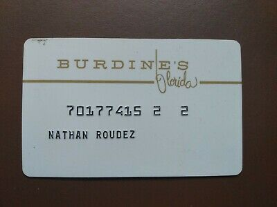 Vintage Credit Charge Card Burdines Department store