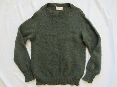 "Vtg 60s Robert Bruce ""Shaggy Fleece"" Mohair Sweater Mod Hollywood Kurt Cobain"