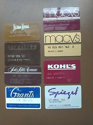 Vintage Credit Charge Card Department store lot