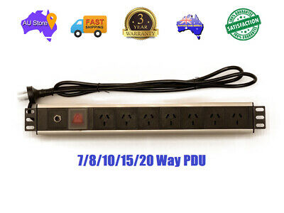 Industrial Level 7 To 20 Way Power Rail PDU Rack Mount Heavy Duty 3year Warranty